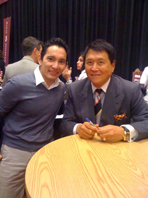 Sabas FLores with Robert Kiyosaki