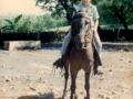 Sabas Flores on his horse, Cospe
